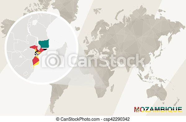 Zoom on mozambique map and flag world map eps vector search zoom on mozambique map and flag world map vector gumiabroncs Image collections