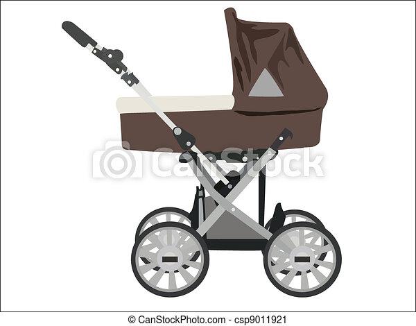 zoomed, niemowlę, wizerunek, wektor, spacerowicz - csp9011921