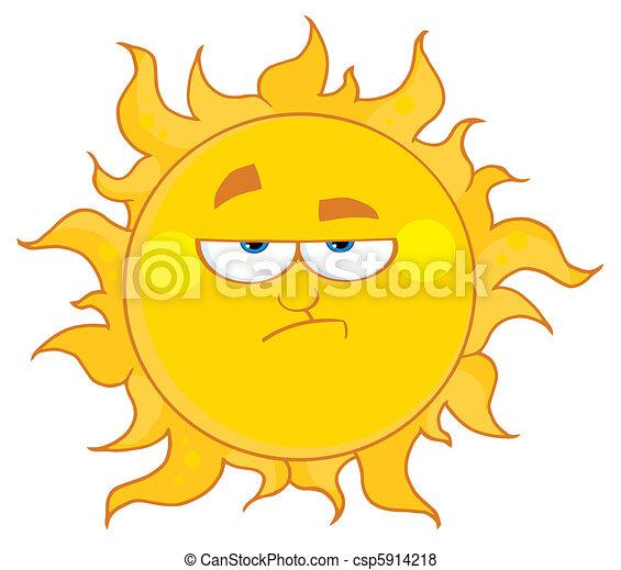 zrzędny, słońce - csp5914218