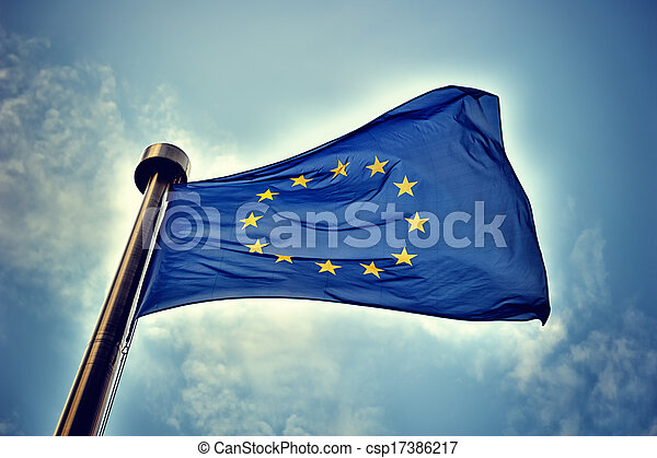 zrzeszeniowa bandera, europejczyk - csp17386217