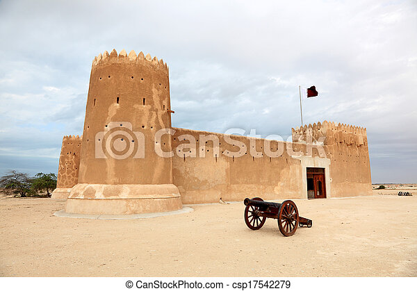 Zubarah fort in Qatar, Middle East - csp17542279