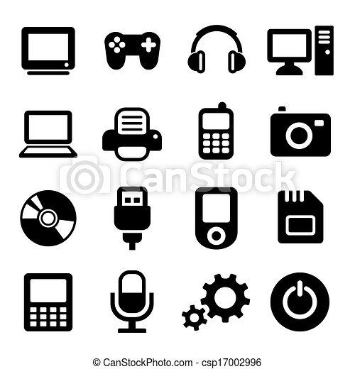 Multimedia-Gadget-Icons eingestellt - csp17002996