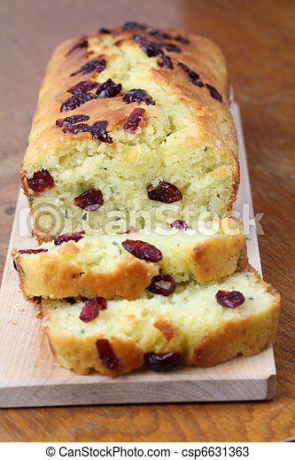 Zucchini bread with cranberries - csp6631363