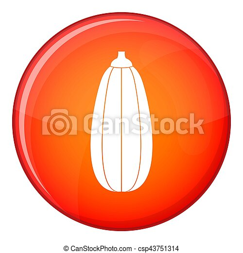 Zucchini vegetable icon, flat style - csp43751314