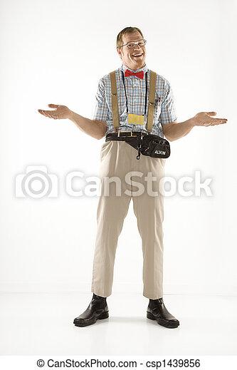 Ein Mann mit Schultern. - csp1439856