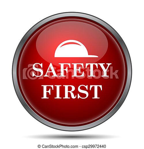 zuerst, sicherheit, ikone - csp29972440