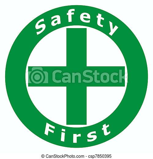zuerst, sicherheit, zeichen - csp7850395