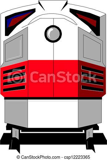 Moderner Zug - csp12223365