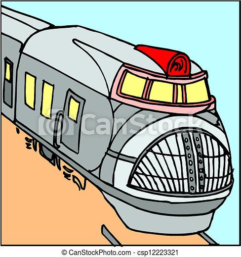 Moderner Zug - csp12223321