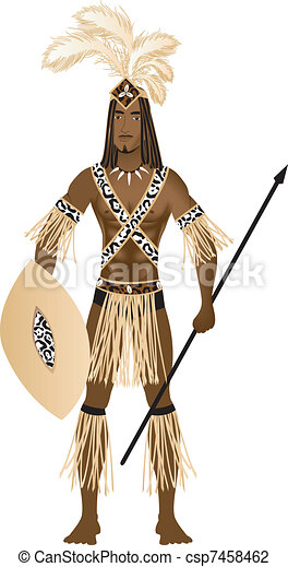 zulu, carnevale, costume - csp7458462