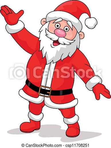 zwaaiende , kerstman - csp11708251