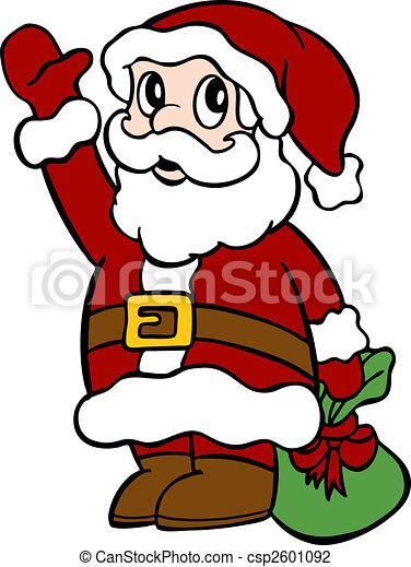 zwaaiende , kerstman - csp2601092