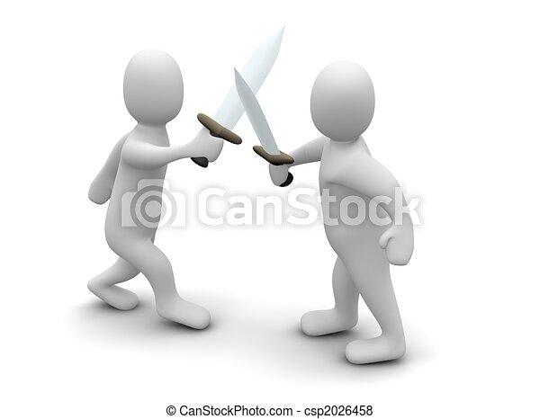 zwaarden, vecht - csp2026458