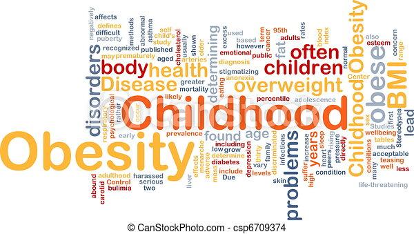 zwaarlijvigheid, concept, kindertijd, achtergrond - csp6709374