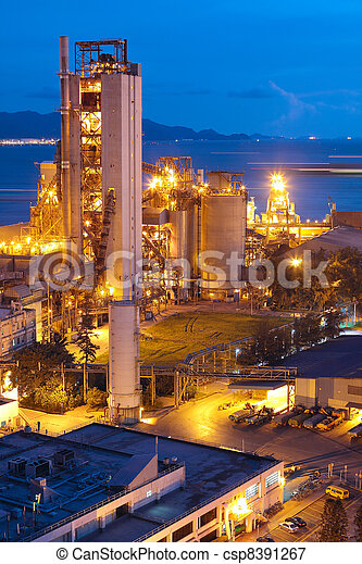 zware, industry., industrie, cement, bouwsector, plant, fabriek, of - csp8391267