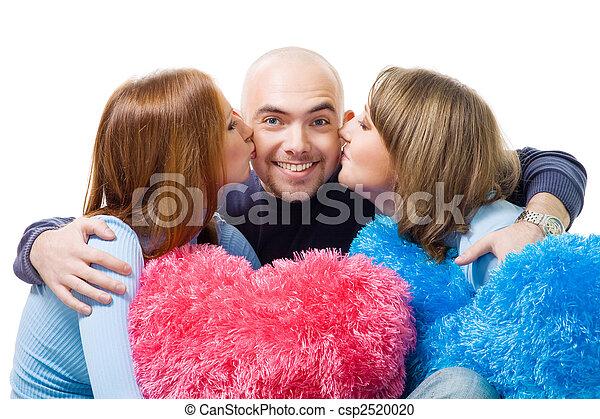 Sich küssen zwei frauen Schöne Frauen