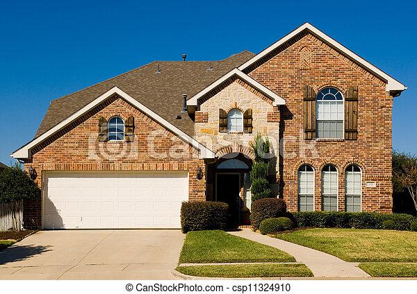 zwei-geschichte, eigenschaft, -, daheim, schöne  - csp11324910