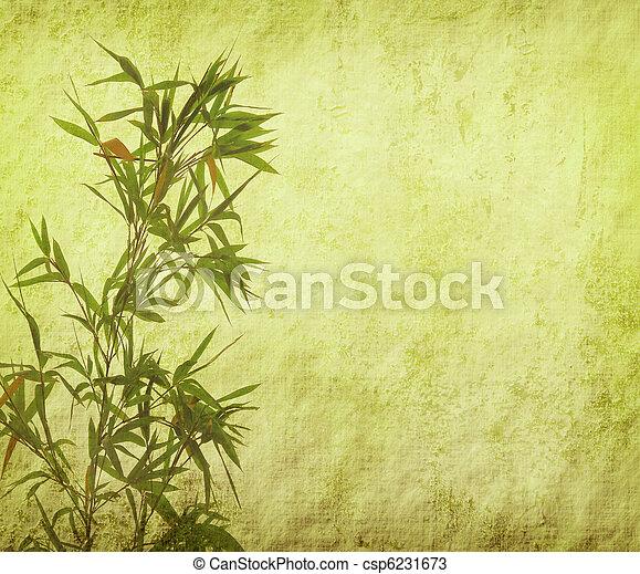 zweige, papier, hintergrund, silhouette, bambus - csp6231673