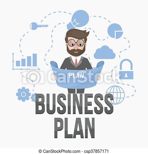 związany, plan, handlowy - csp37857171