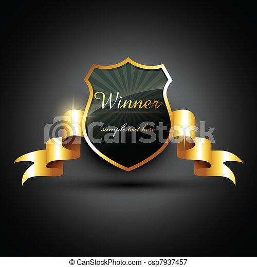 zwycięzca, etykieta - csp7937457